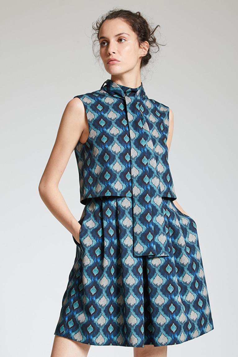 Street One Midi Kleid Mit Ikat Muster Wenz