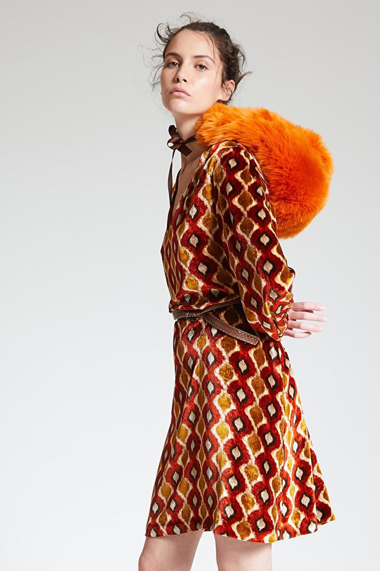 Broadway Nyc Kleid Mit Ikat Muster In Grun 9