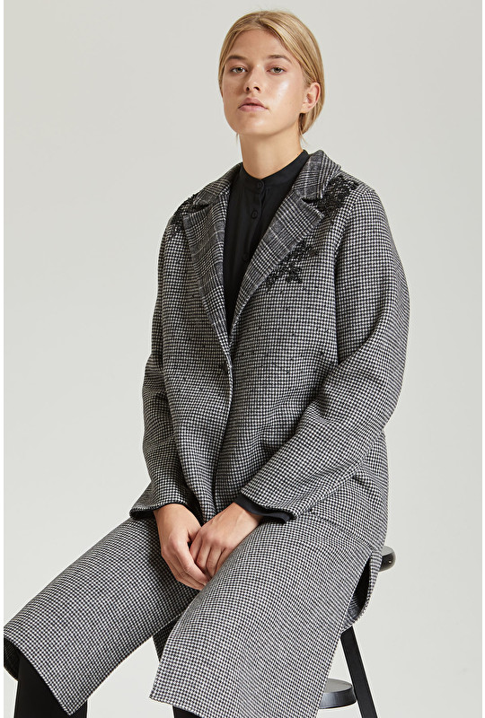 MANTEAU-EMBROIDERED WOOL