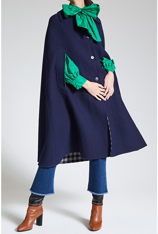 WOOL VICHY COAT