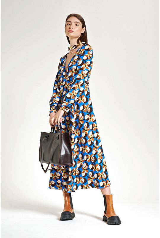 WALLPAPER FLOW TWILL DRESS