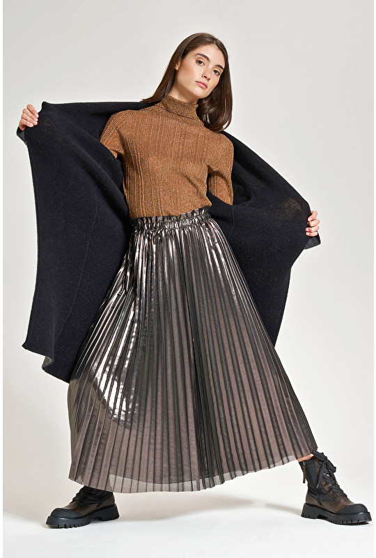 PLATED GEORGETTE SKIRT
