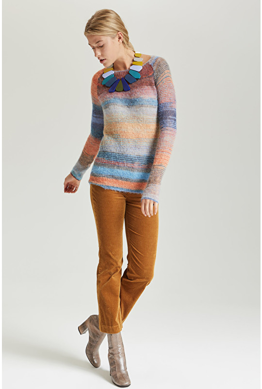 MULTICOLOUR STRIPES CARDIGAN