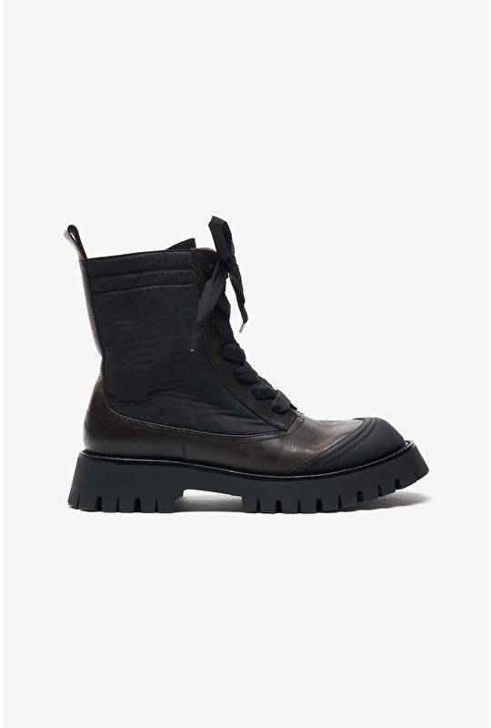 WESTERN LEATHER COMBAT BOOTS