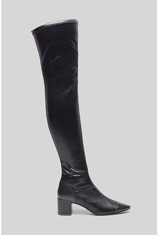 STRETCH SATIN BOOTS