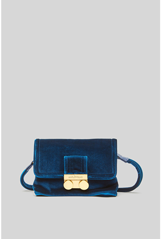 SMALL VELVET CROSSBODY BAG